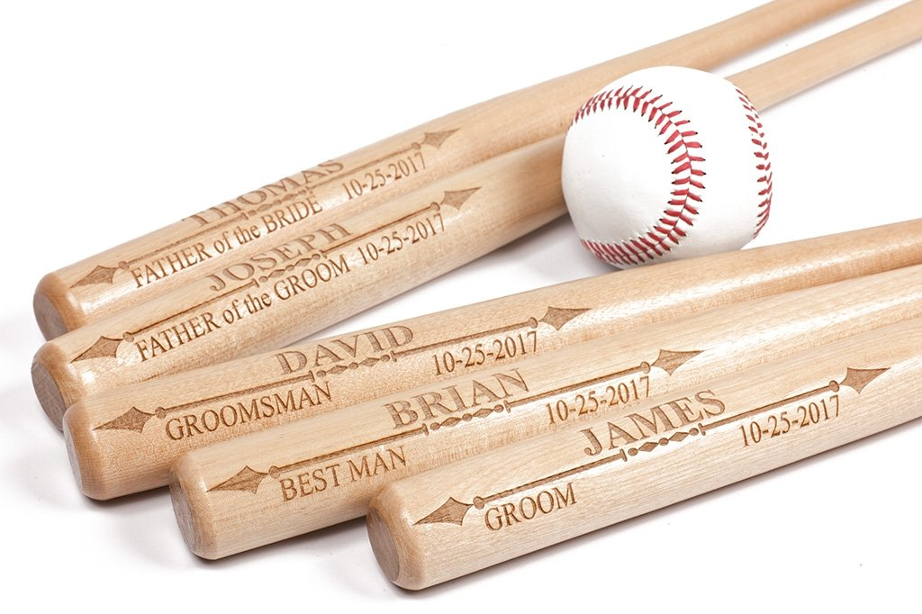 personalized mini Baseball bat for Ring Bearer