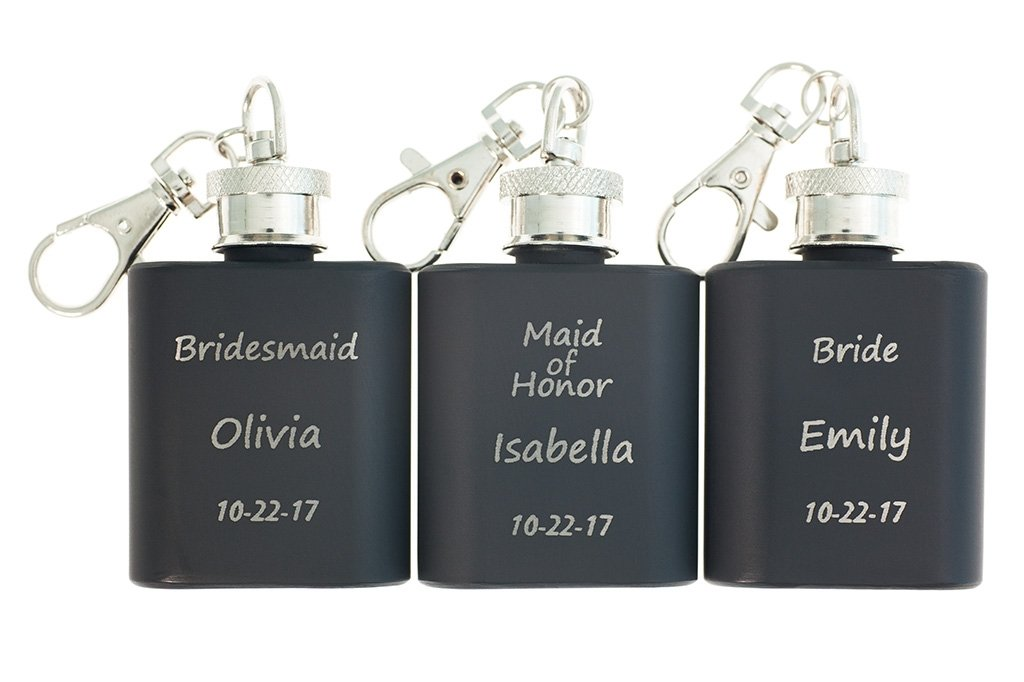 customized bridesmaid gifts black