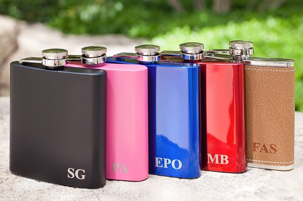 personalized Flask with your Initials