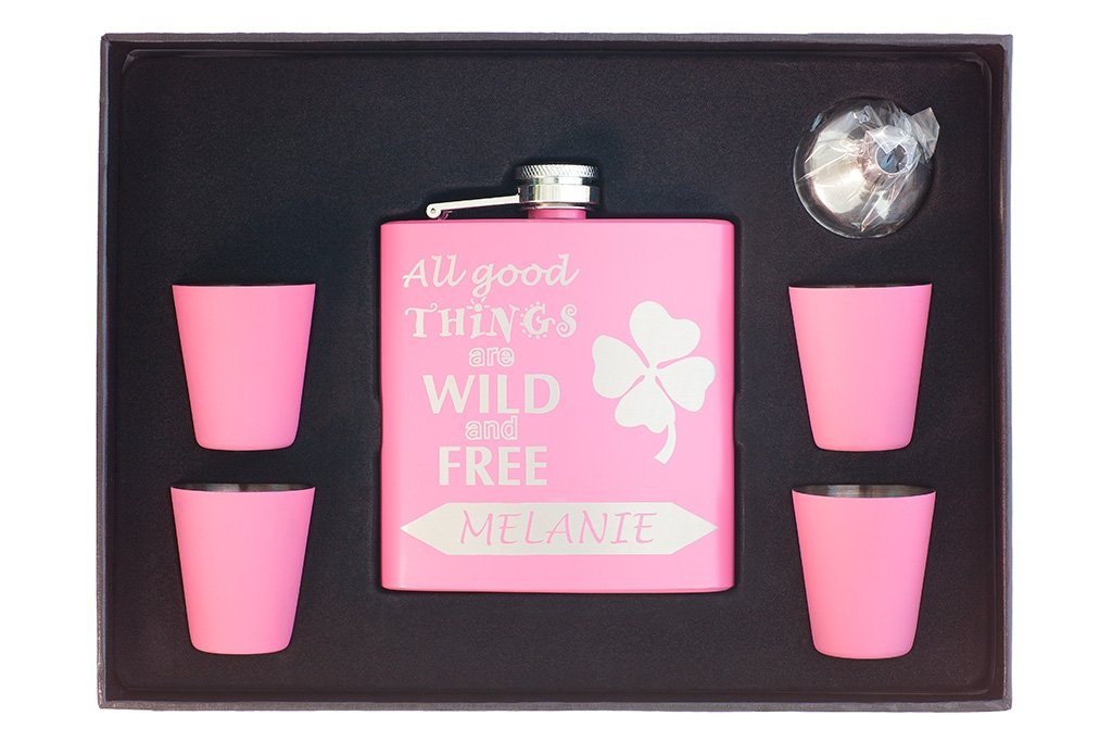 "Flask for Her ""All Good Things are Wild and Free"""