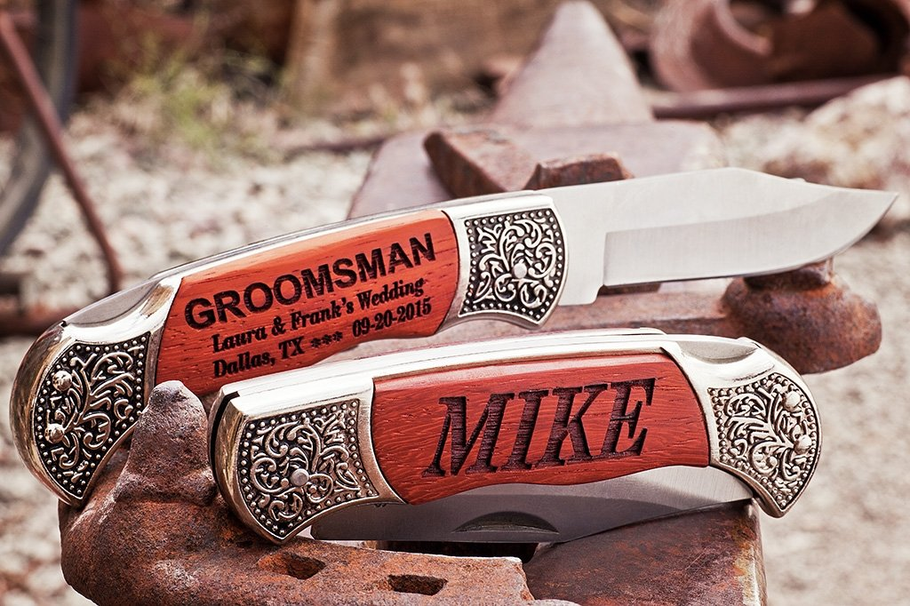 custom engraved Groomsmen Knife