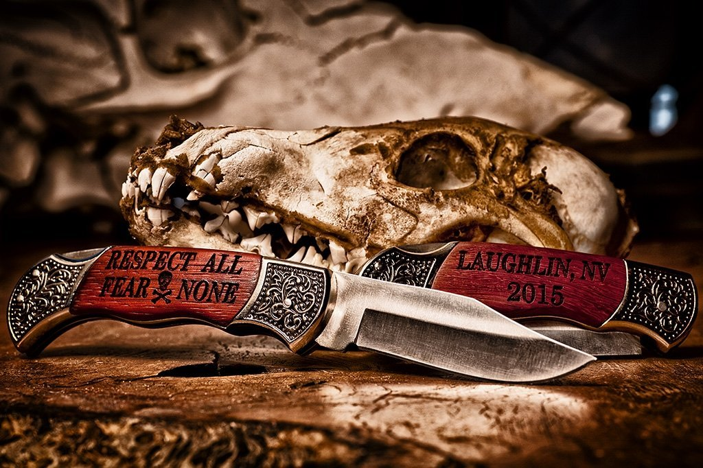 personalized hunting knife Respect All Fear None