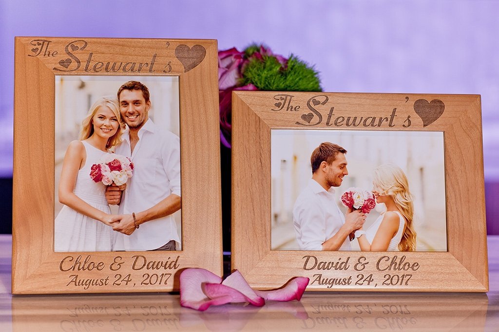 Custom Engraved Family Picture Frame Personalized Couple Gift