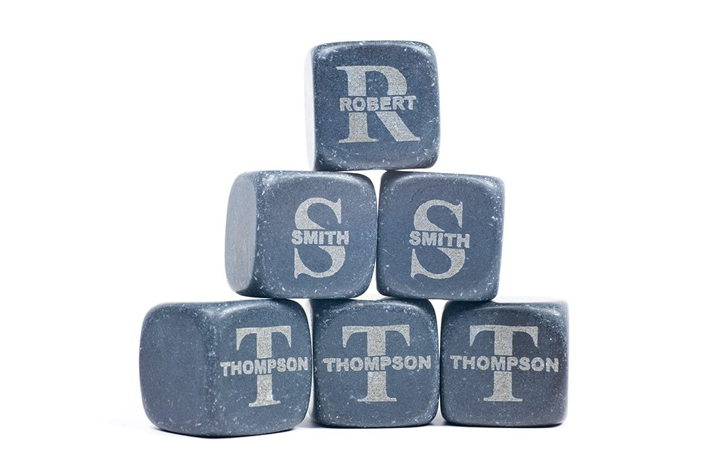 personalized engraved Whiskey Stone Set