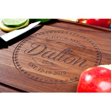 Personalized Walnut Hardwood Cutting Board (Made in USA)