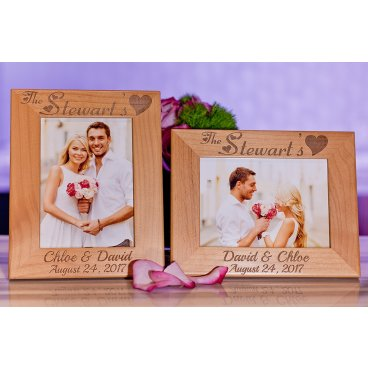 Engraved Picture Frame for Wedding, Couple or Family