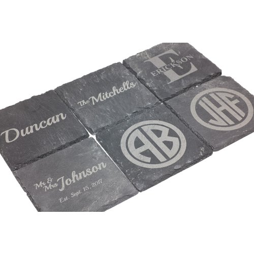 customized coaster set as wedding gift