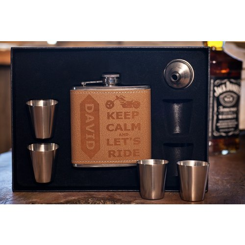 personalized biker gift flask motorcycle