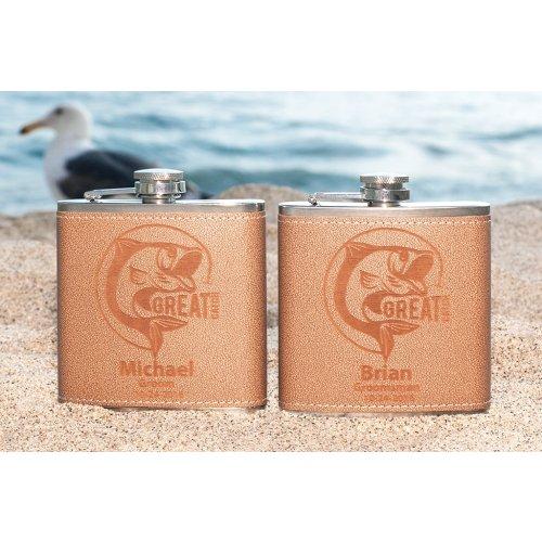 personalized Groomsmen Fishing Flask