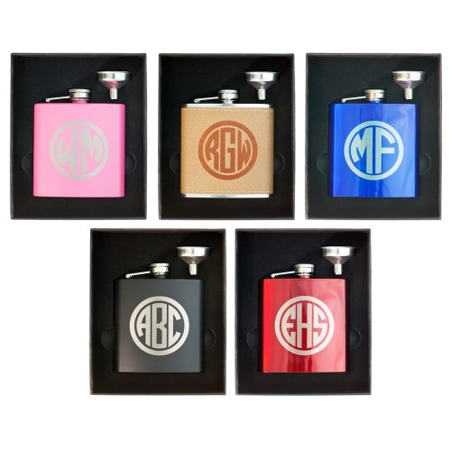 personalized flasks in Funnel Gift Box