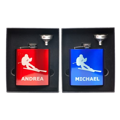 personalized ski flask in Funnel Gift Box