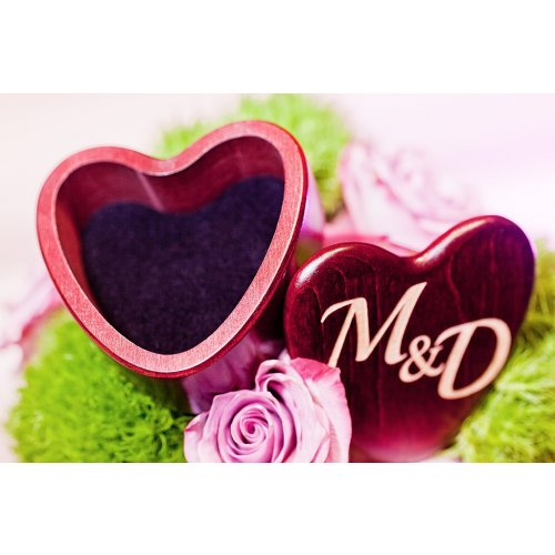 heart shaped ring presentation box for wedding