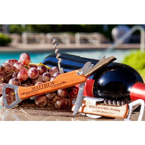 Personalized Bottle Opener & Wine Corkscrew
